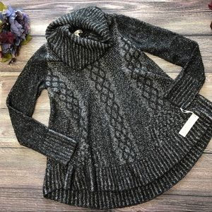 NWT Kaisely Wool blend Cowl Neck Swing Sweater Med
